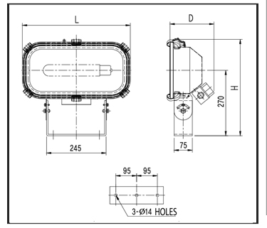 NON-SPARKING-HALOGEN-LIGHTS-PX-H50nR-technical-drawing