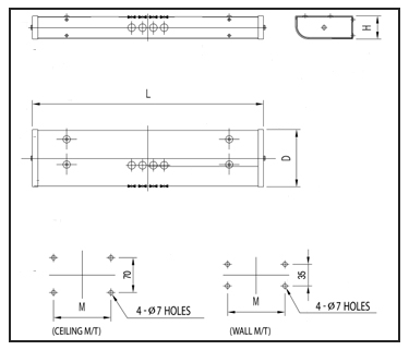 FLUORESCENT-LIGHTS-FP-N-Technical-Drawing