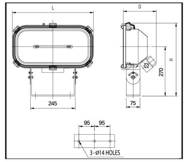 Halogen-Flood-Lights-pfh-1k-Technical-Drawing