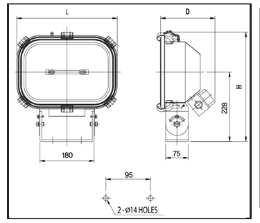 Halogen-Flood-Lights-technical-drawing