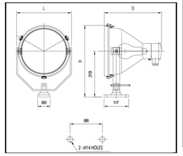 Icandescent--Flood-Lights-PFI-20-Technical-Drawing