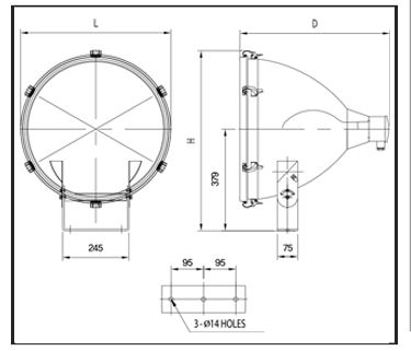 MERCURY-FLOOD-LIGHTS-PFM-Technical-Drawing